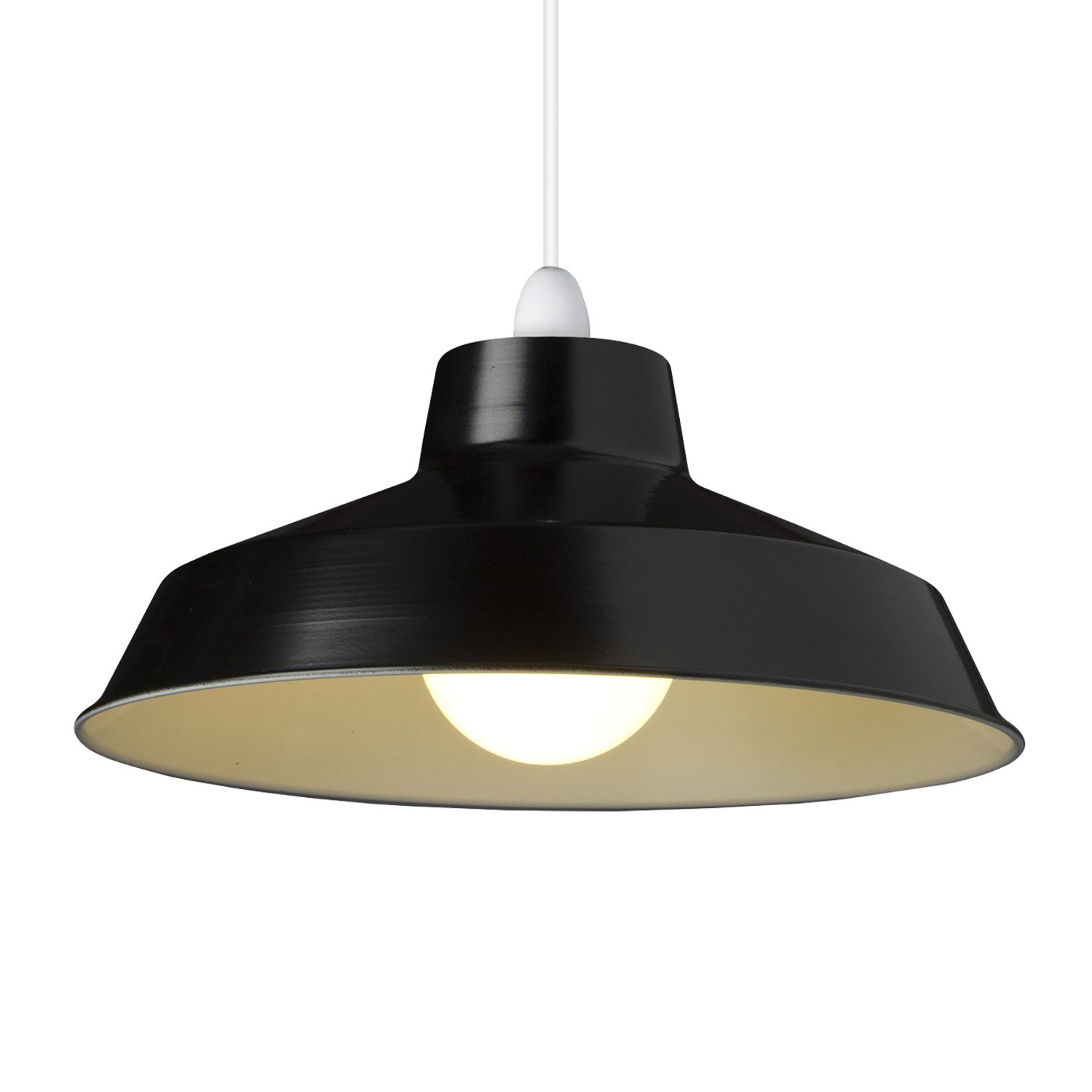 Small Dual Fitting Pluto Metal Lighting Pendant Shades Black Metal Pendant Light