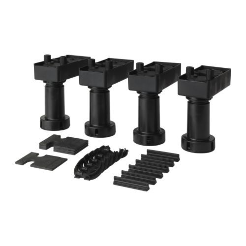 AKURUM Leg IKEA Adjustable legs; stands steady on uneven surfaces. Also  suitable for high