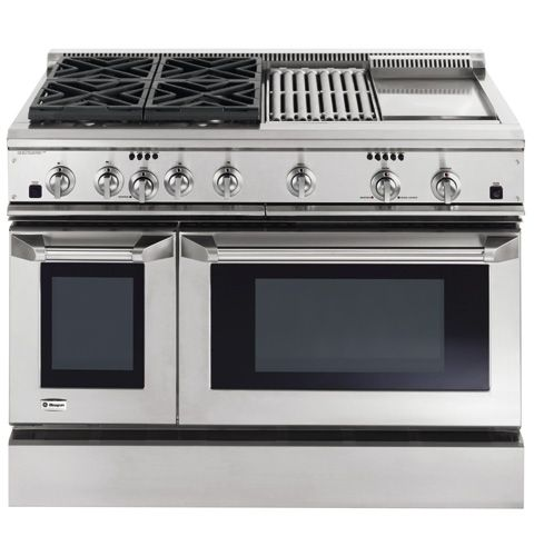 Ge Monogram 48 Quot Dual Fuel Professional Range With 4 Burners Grill And Griddle Liquid Propane Zdp48l4ghss Kitchen Stove Kitchen Kitchen Appliances