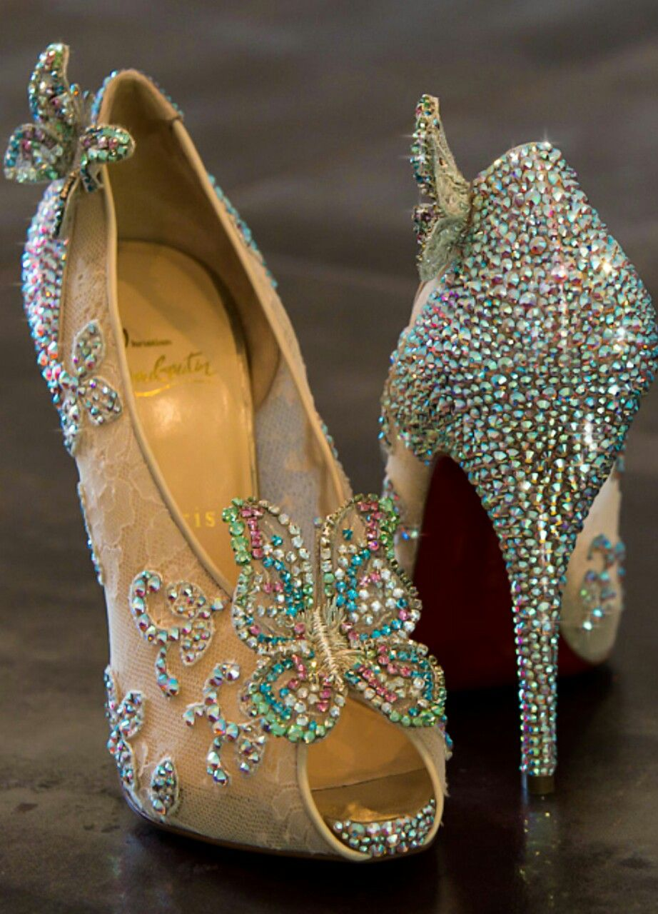70413b70b2d9 Look and feel like a princess in these Christian Louboutin Cinderella Shoes
