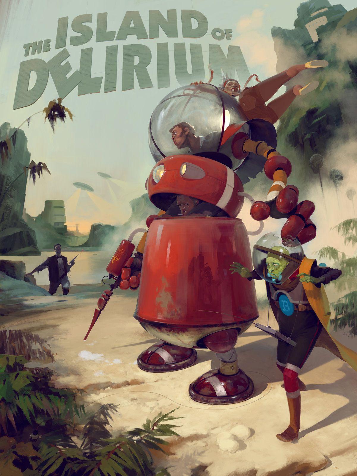 Delirium Island, Sergey Kolesov on ArtStation at https