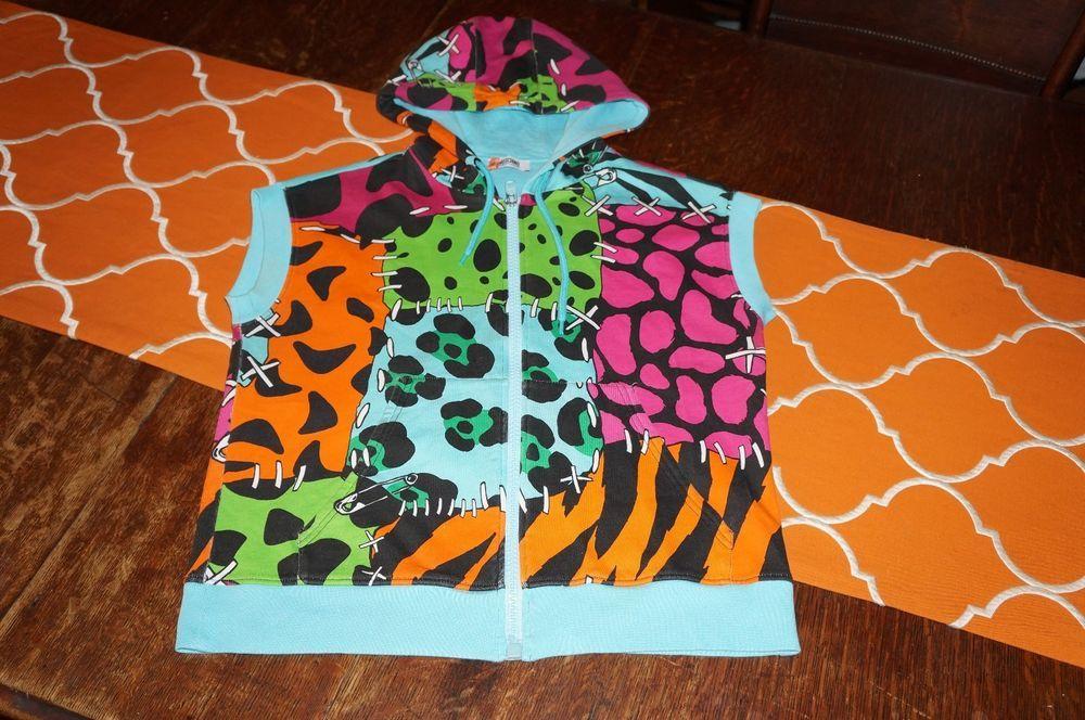 Moschino Multi Animal Print Women's Size 6 Sleeveless Sweatshirt with Hood     eBay