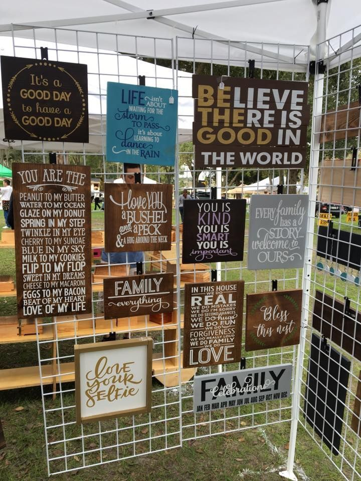 Craft Show And Booth Display Ideas