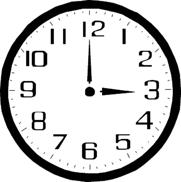Pin On Analog Clock Coloring Pages