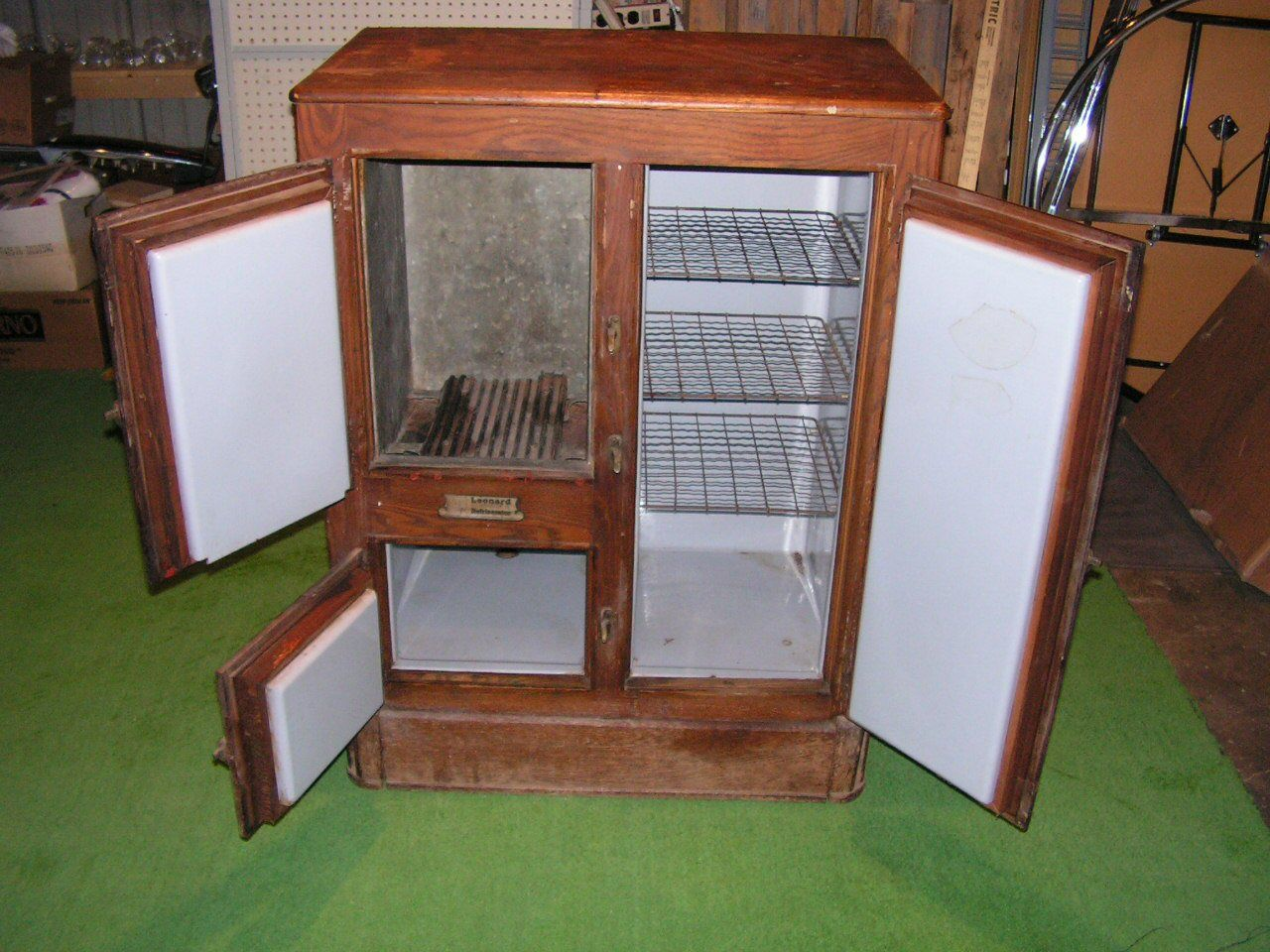 Antique Icebox Before Refrigerators In Olden Days
