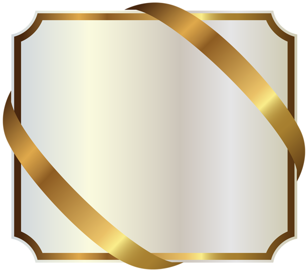 This Png Image White Label With Gold Ribbon Png Image Is Available For Free Download Ribbon Png Gold Clipart Gold Ribbons