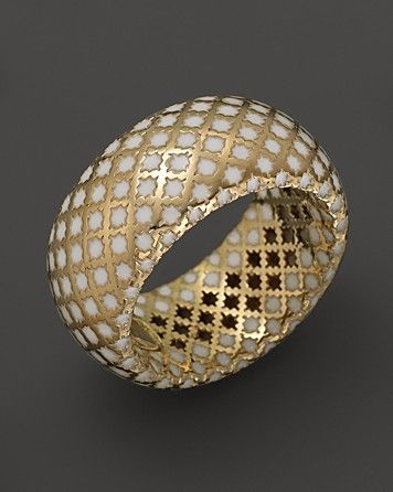 Nice Gucci K Yellow Gold Diamantissima Ring With White Enamel Bloomingdale us