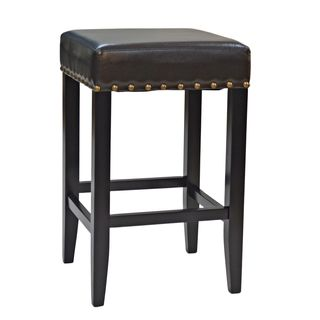 Marco 25 Inch Upholstered Nailhead Counter Stool House Ideas
