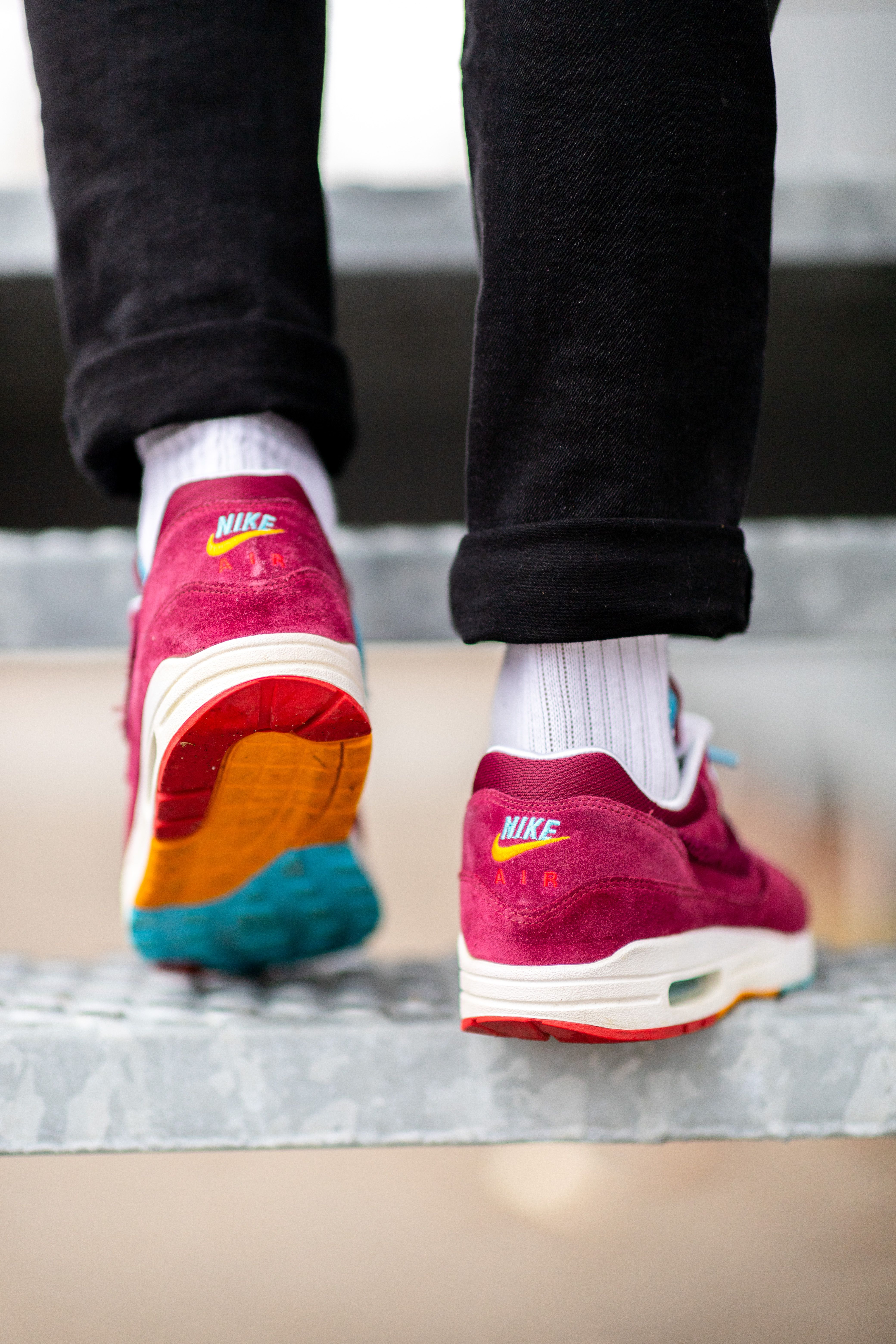 Nike Air Max 1 Patta x Parra Burgundy Cherrywood in 2019