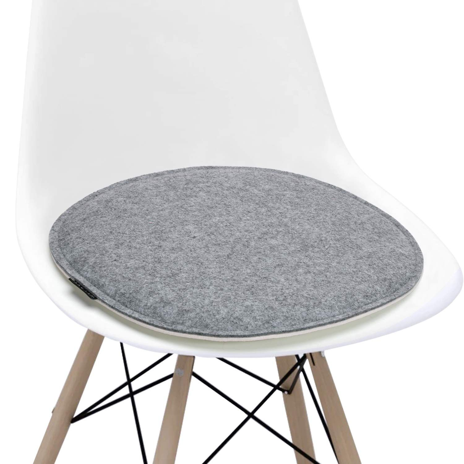 Welaxy Felt Chair Pads Seat Cushion For Eames Chair Dsw Plastic Chairs Pads For Office I Upholstered Rocking Chairs Modern Dining Side Chairs Dining Chair Pads