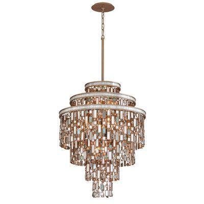 Corbett Lighting Dolcetti 13 Light Crystal Pendant Size: Medium