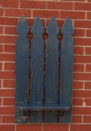 Picket fence shelf by TheBaloneyBros