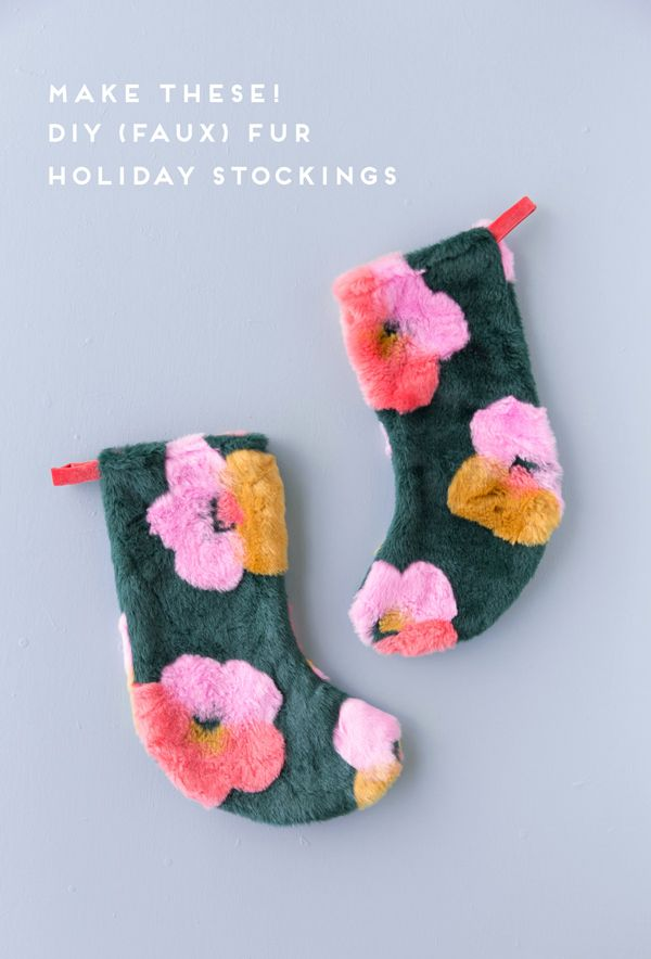 A Pop Art Inspired DIY Stocking Idea (and Stocking Stuffers Galore