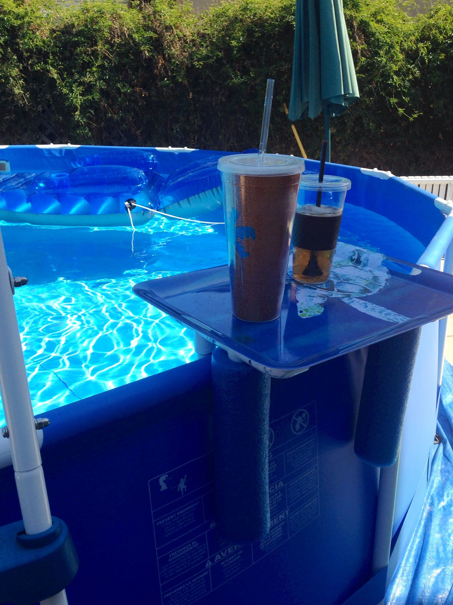 Piscinas Pvc Smart Drink Phone Holder For Above Ground Pool Cheap Plastic