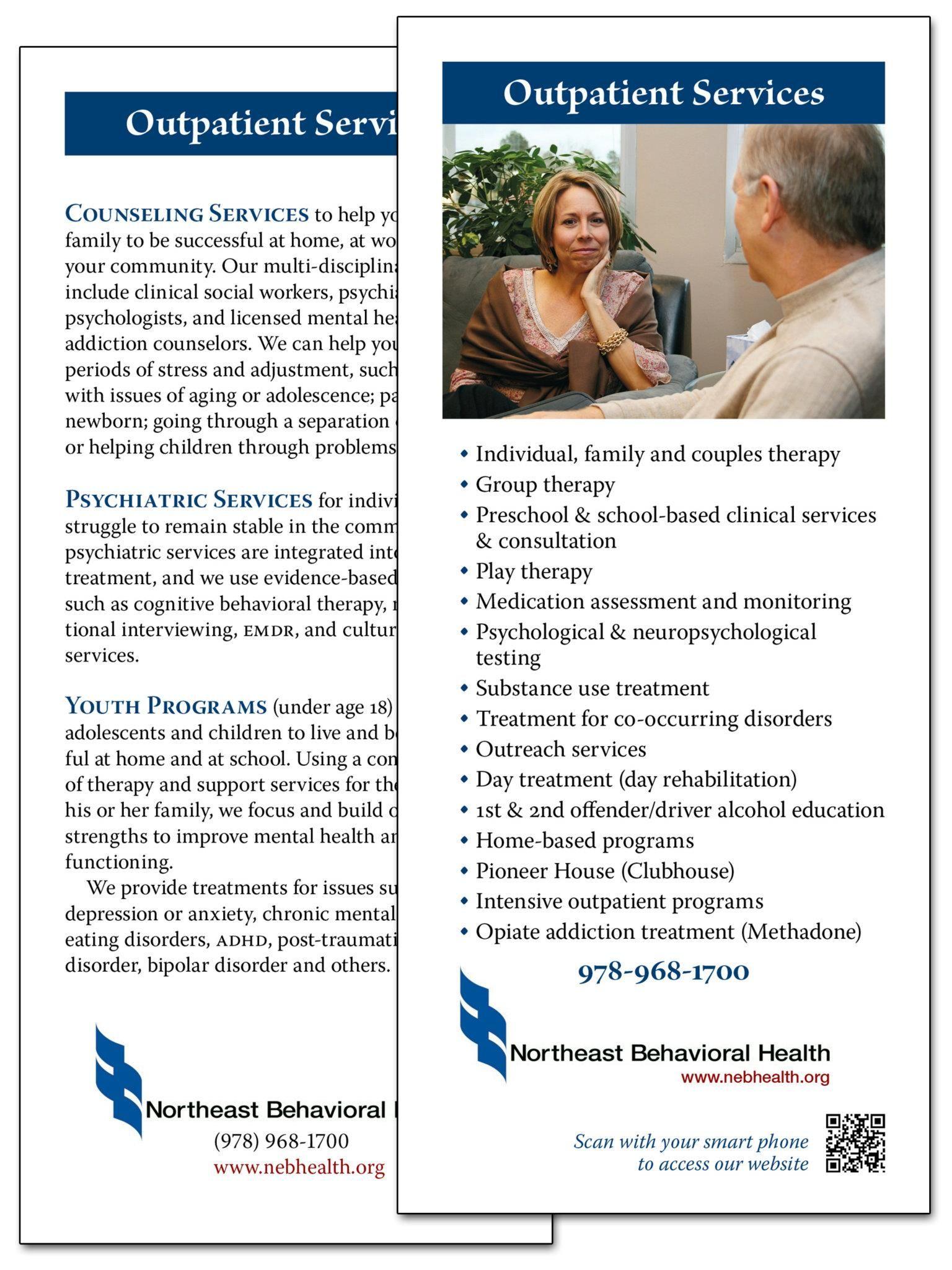 Northeast Behavioral Health - Rack Card | Business Cards