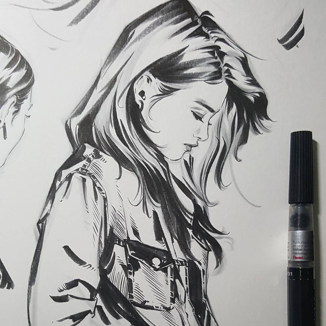 Girls Sketch Pics Side Profile Retratos Pinterest Profile Drawings And Sketches Girl Artist Sketches Pencil Portrait