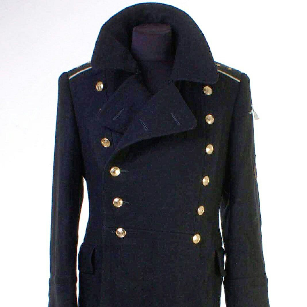 Cyber week Sale !!! USED USSR Russian Navy Uniform Black Overcoat ...