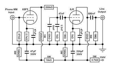 VinylSavor: The Octal Phono Preamplifier, Part 1 : Circuit