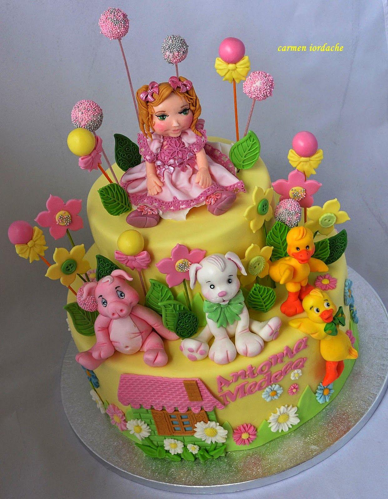 "CARMEN'S ART CAKES -Bucuresti: Tort de botez ""Bombonica """