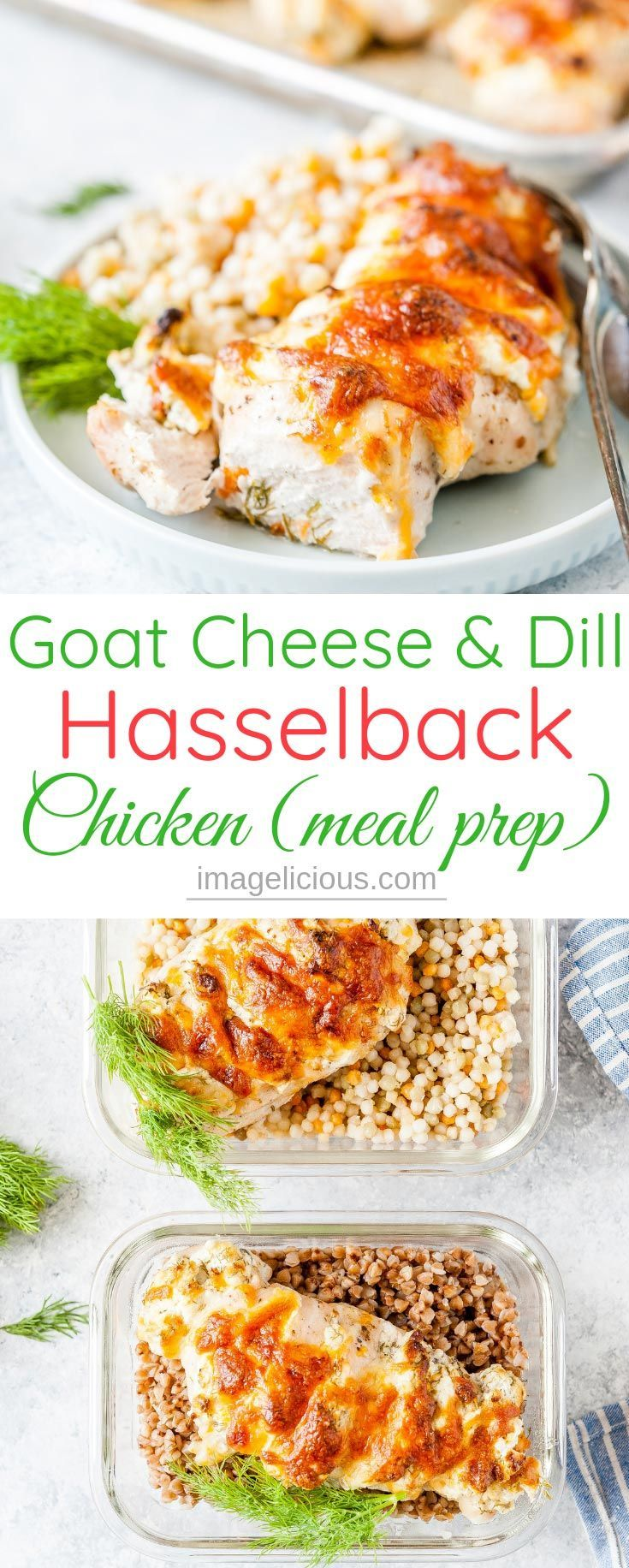 Goat Cheese and Dill Hasselback Chicken - Imagelicious.com