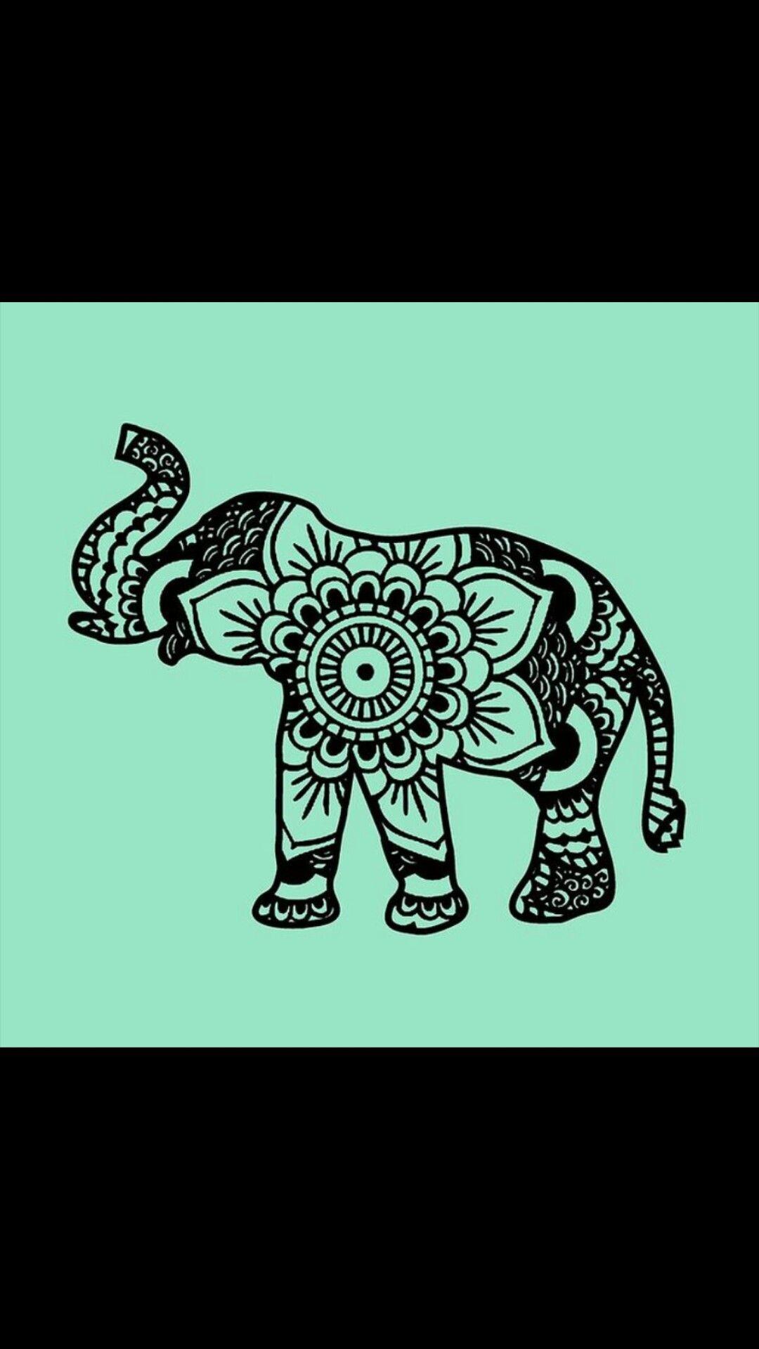 Cute Elephant Wallpaper Estampas Tecidos