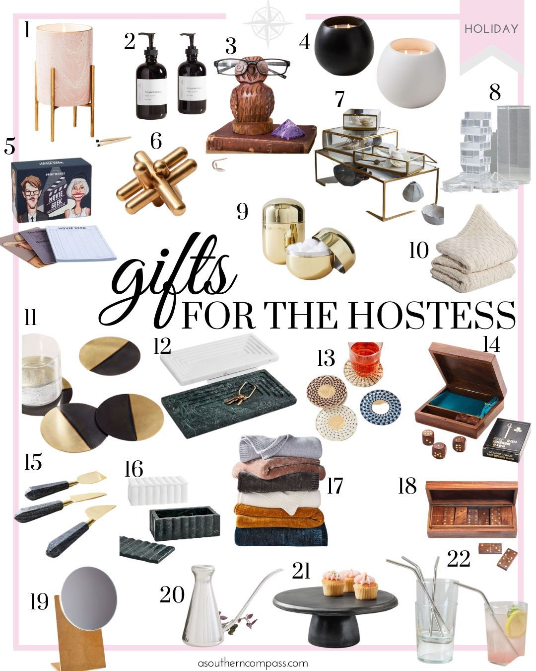 2020 Christmas Gift Ideas A Southern Compass Christmas Gift Guide Christmas Gifts For Wife Hostess Gifts