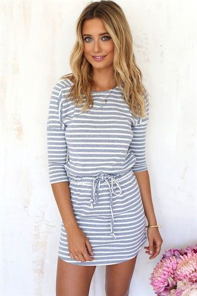 Nautical Stripe Dress | SABO SKIRT