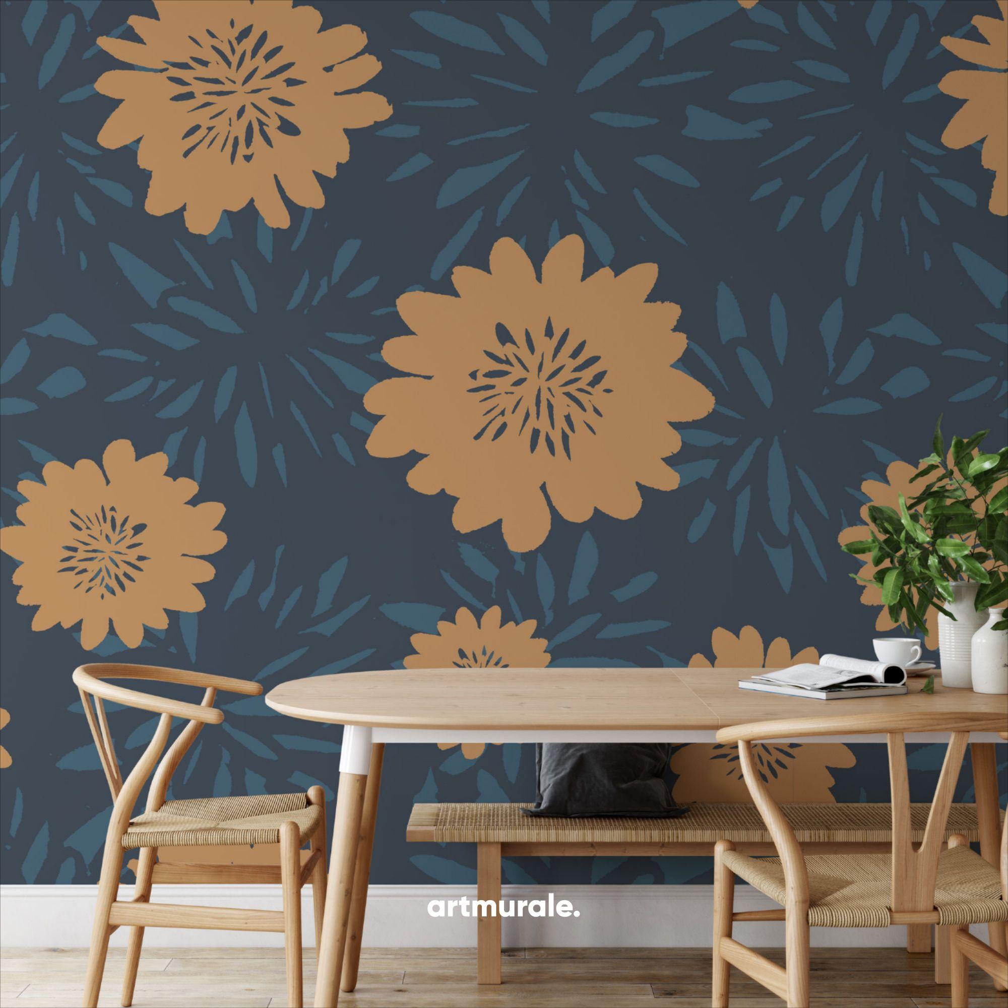 Margaritas Peel And Stick Wallpaper Floral Wallpaper Wallpaper