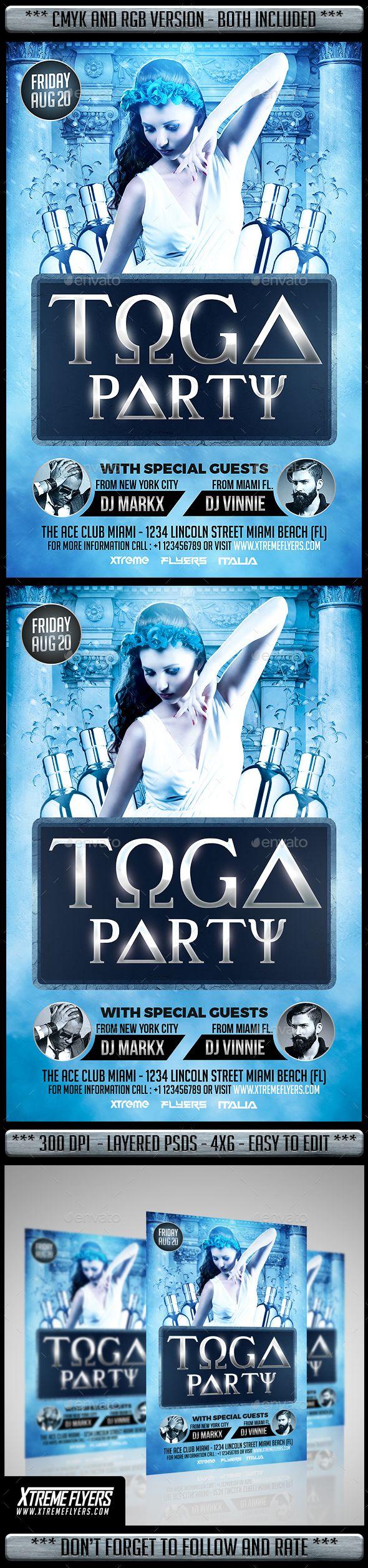 Toga Party Flyer Party Flyer Toga Party Party Poster