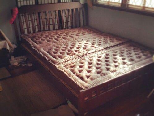 ท นอนพ บได 5ฟ ต หนา4น ว 3 Folding Kapok Organic Futon Thai Traditional