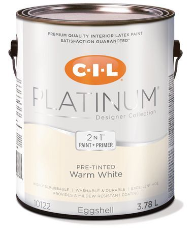 Cil Platinum Interior Paint Pre Tinted Warm White 3 78 L Arctic White Products In 2019 Interior Paint Painting Interior