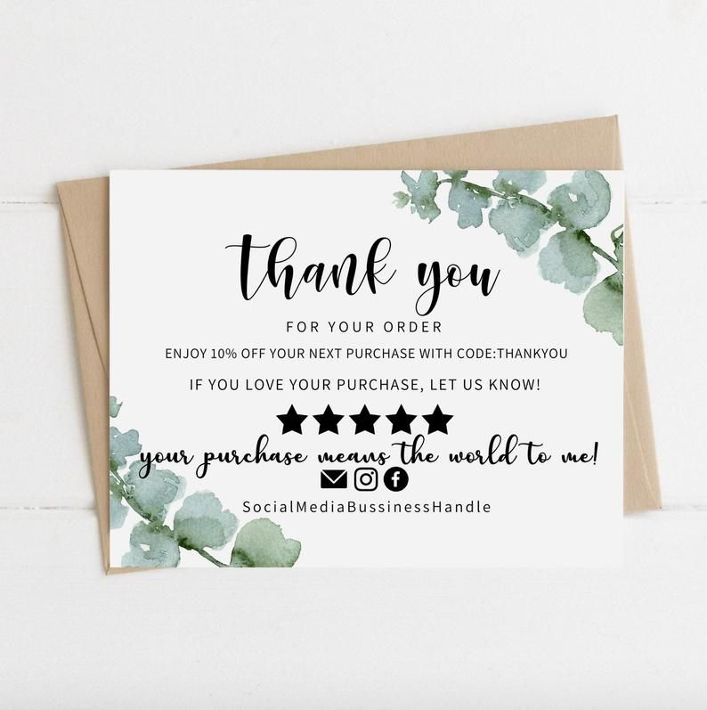 Instant Download Thank You Card Editable And Printable Thank Etsy In 2021 Printable Thank You Cards Thank You Cards Business Thank You Cards