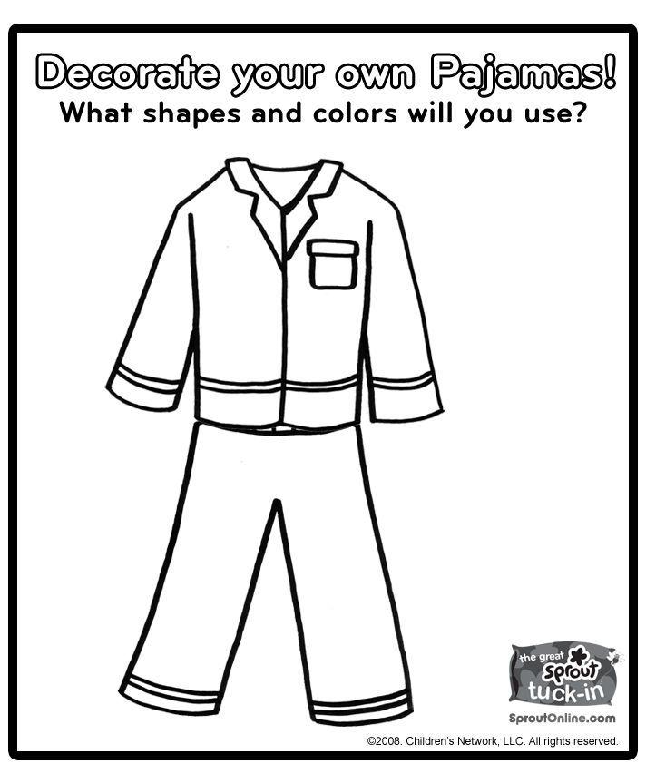 Pajama day coloring pages sketch coloring page preschool for Llama llama red pajama coloring page