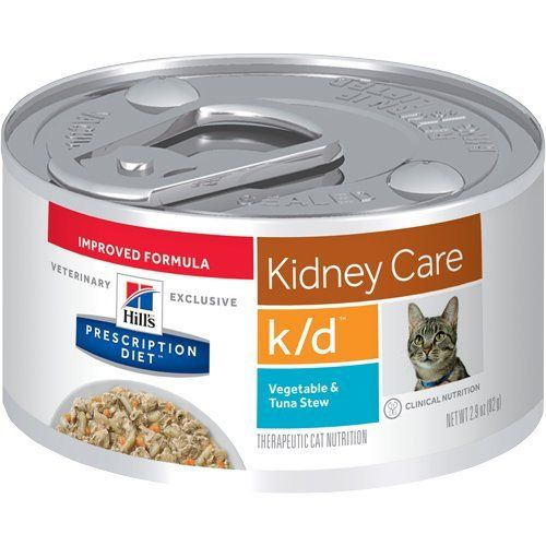 Hill S Prescription Diet K D Kidney Care Vegetable And Tuna Stew Canned Cat Food 24 2 9 Oz Cont Animal Nutrition Chicken Vegetable Stew Hill S Pet Nutrition