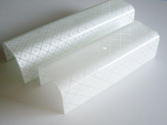 Vintage Glass Bathroom Light Shade Vanity Shade Bent Glass Mid