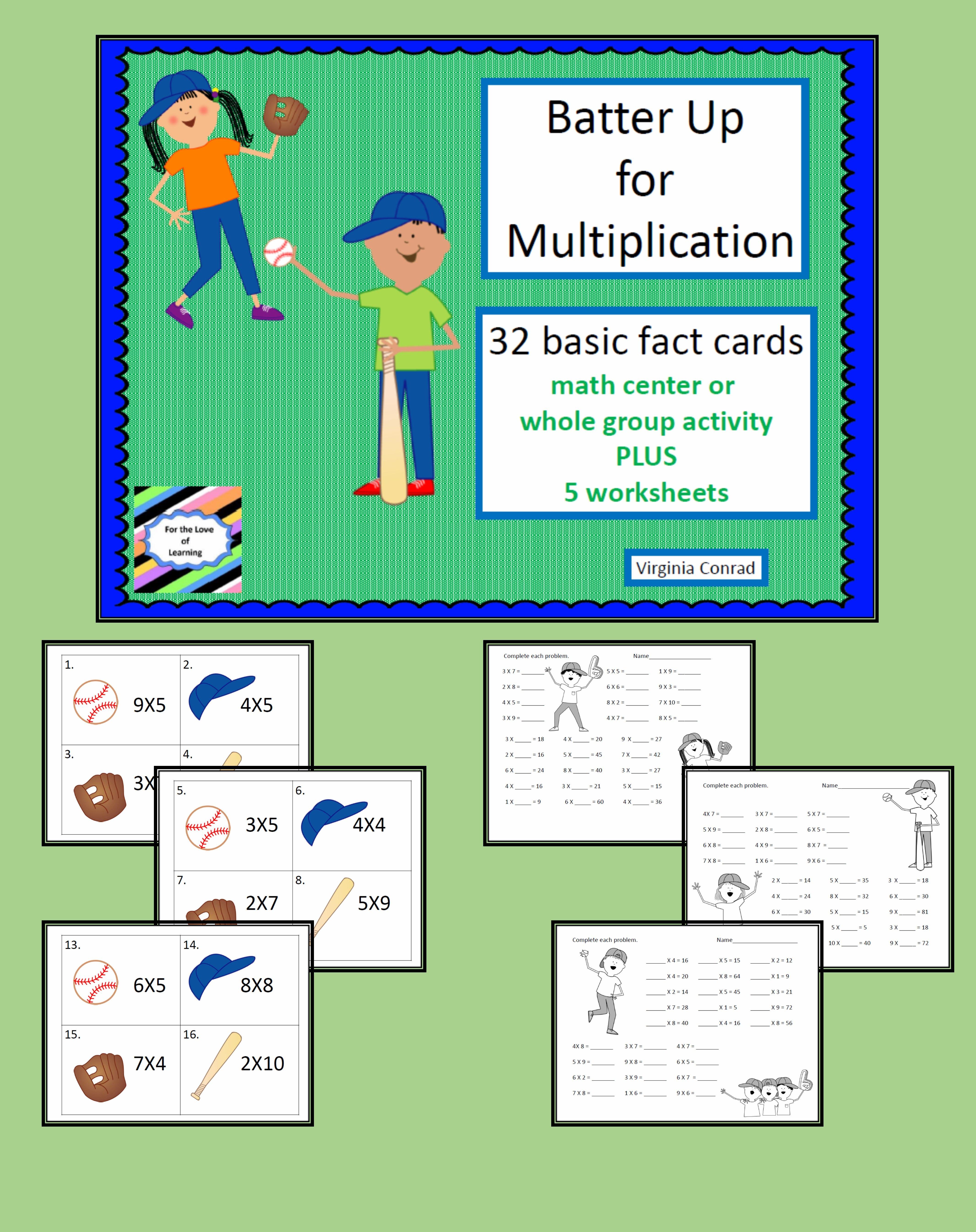 Multiplication Facts Batter Up