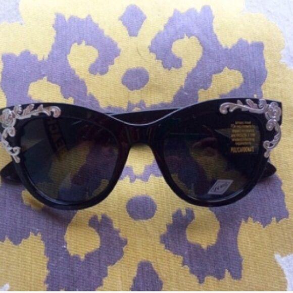 5f0e057dd8b4 Spotted while shopping on Poshmark  Black flower cat eye sunglasses!   poshmark  fashion