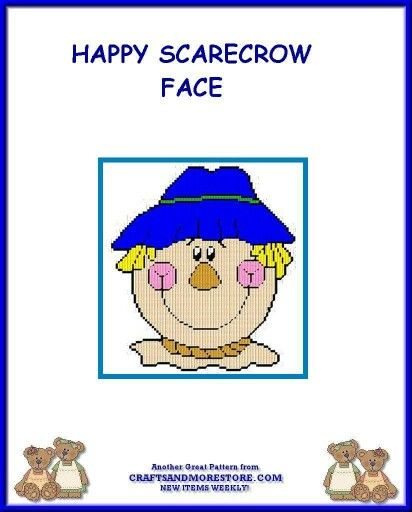 HAPPY SCARECROW FACE by JODY -- WALL HANGING 1/2