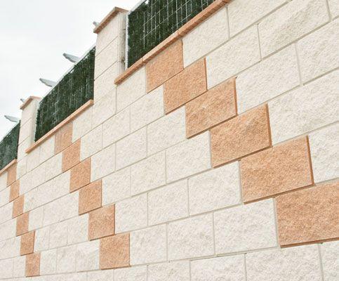 Bloque arosa verniprens muro de bloques de hormigon - Muro de bloques ...