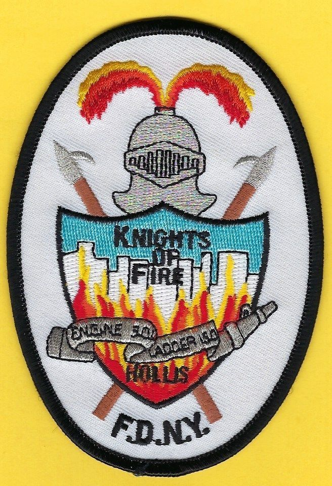 """FDNY Hollis, """"Knights Of Fire"""" Engine 301 Ladder 150.Fire"""