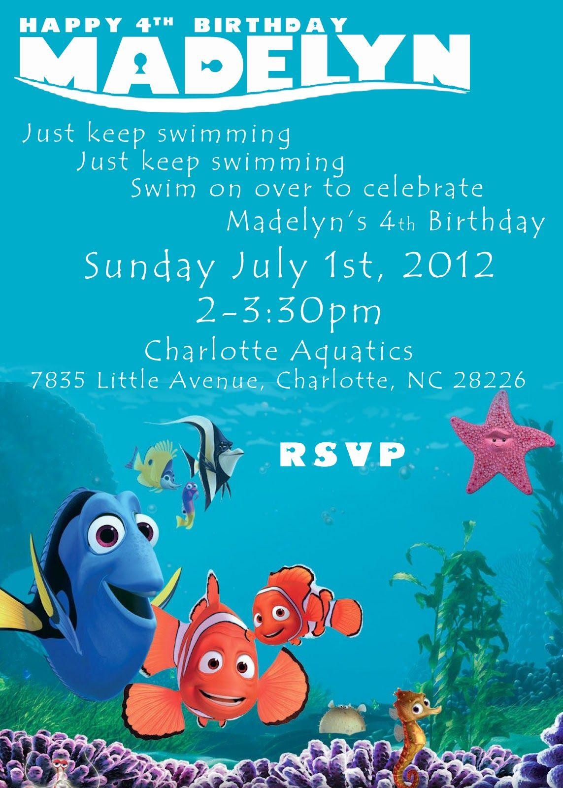 Buckeye Barrys Blog We Found Nemo Madelyns Finding Nemo Birthday