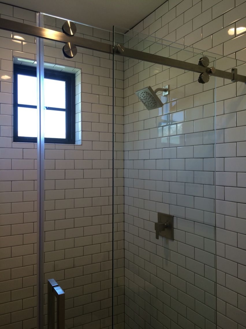 Rolling Shower Door Ezra Lee Design Build Modern Homes