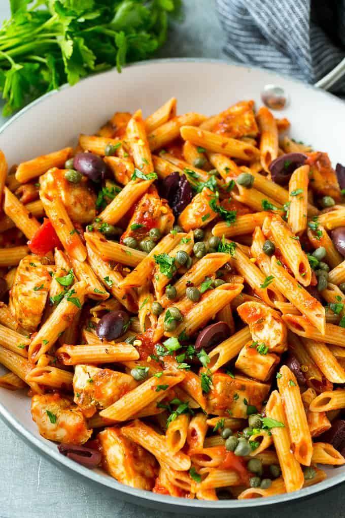 Chicken Pasta Puttanesca Recipe Chicken Pasta Recipes Healthy Pasta Recipes Chicken Pasta Recipes