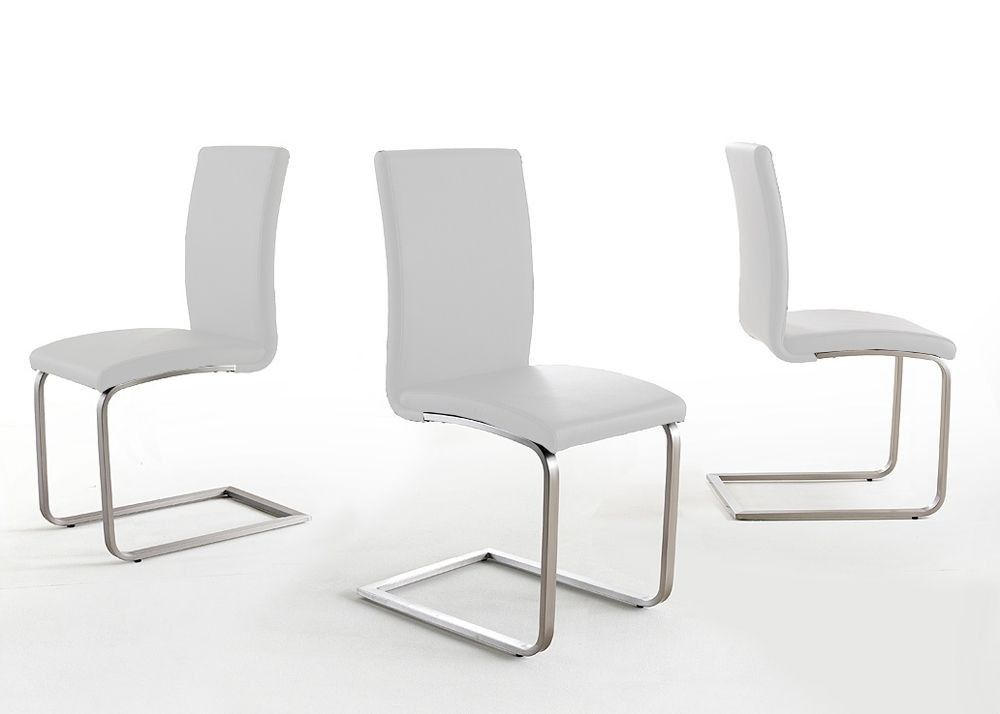 4 Design Freischwinger Stuhl Edelstahl Weiß 4044. Buy Now At Https://www