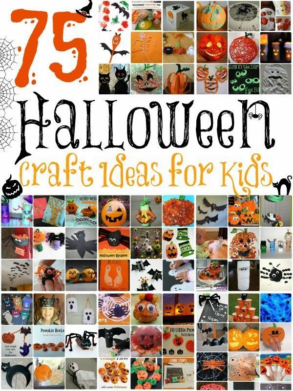 75 Spooky Halloween Kids Craft Ideas art and craft classroom stuff - halloween kids craft ideas