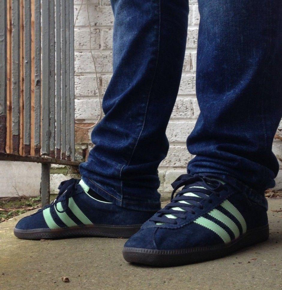 Adidas Padiham Spezial on feet on the