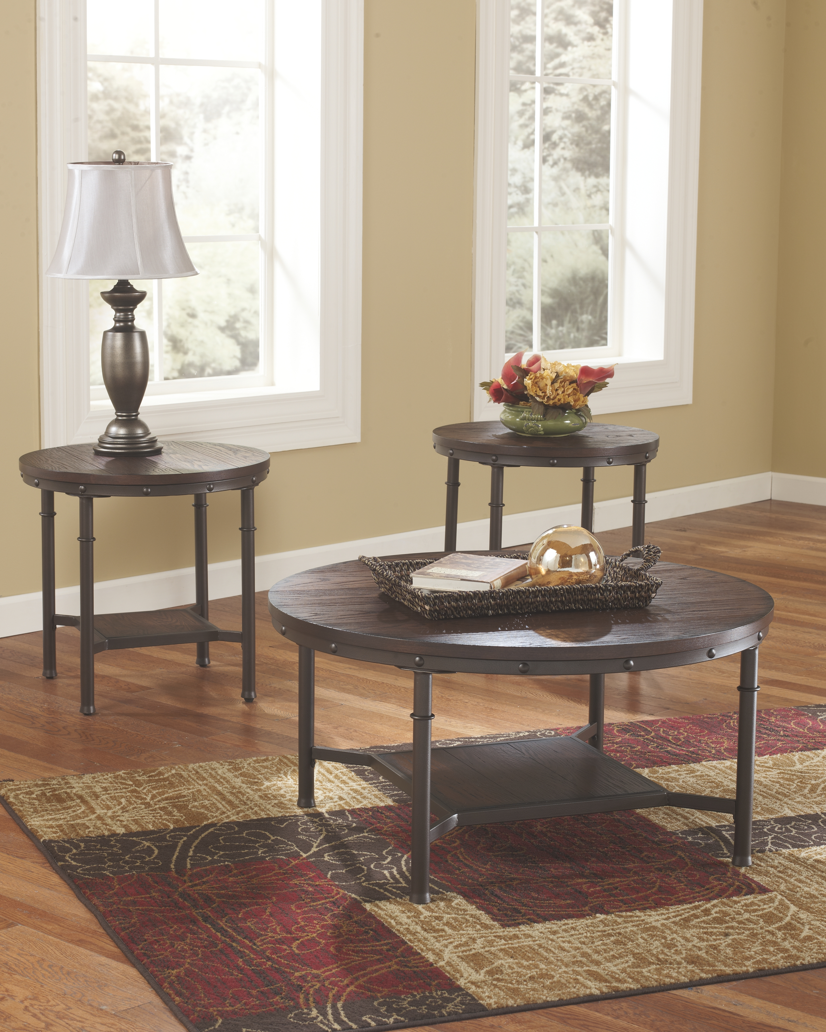 Sandling Table Set Of 3 Rustic Brown Products