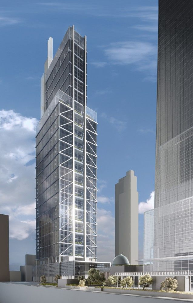 Gallery of Foster + Partners Unveil 1,121-Foot Comcast Tower for
