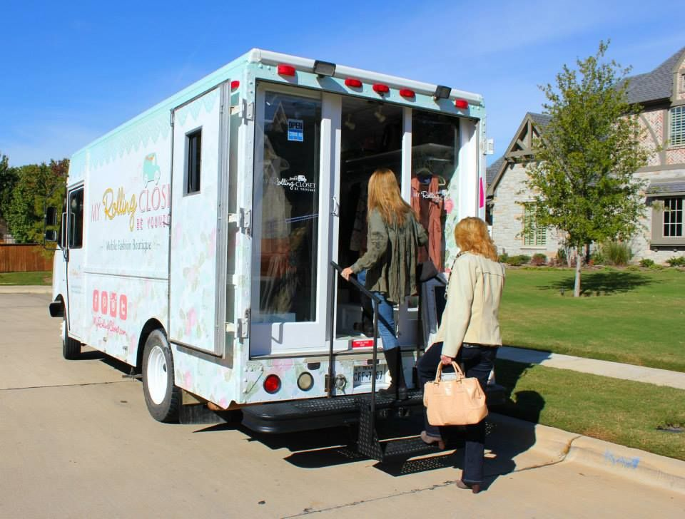 Customers Are Going Inside The Boutique On Wheels The