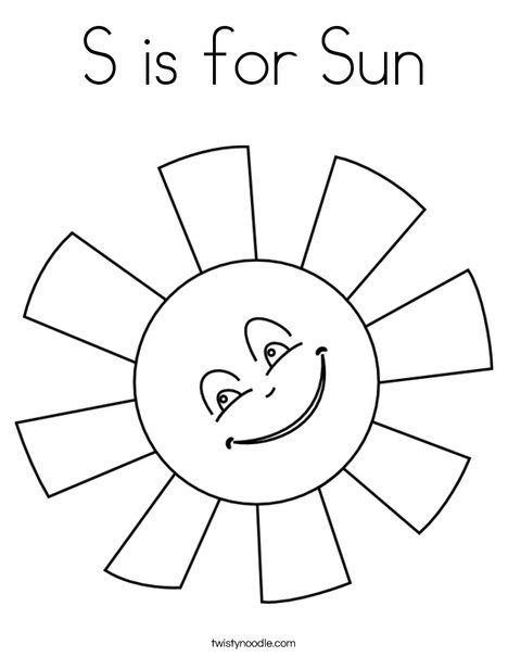 S Is For Sun Coloring Page With Images Sun Coloring Pages Summer Coloring Pages Star Coloring Pages